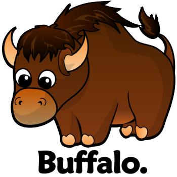Free cartoon download clip. Buffalo clipart cute