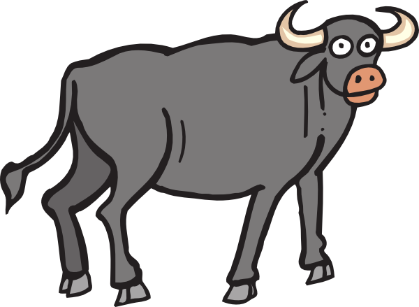 Gallery clip art image. Buffalo clipart drawing