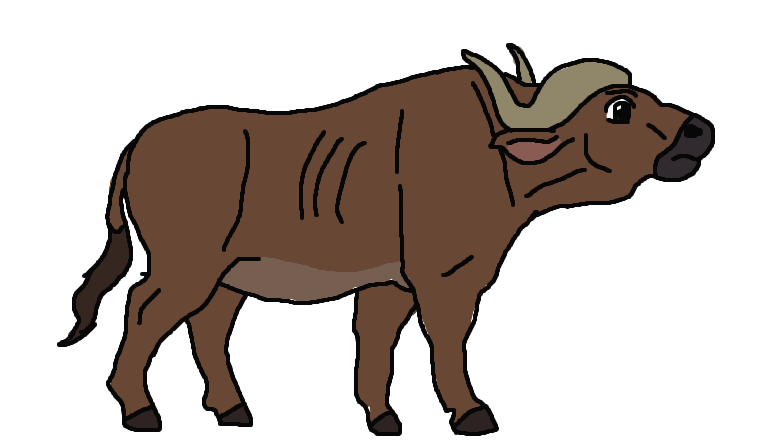 Buffalo clipart drawing. Cape character by andrewshilohjeffery