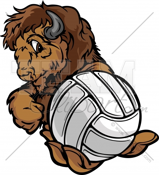 Buffalo clipart easy. Volleyball image to edit