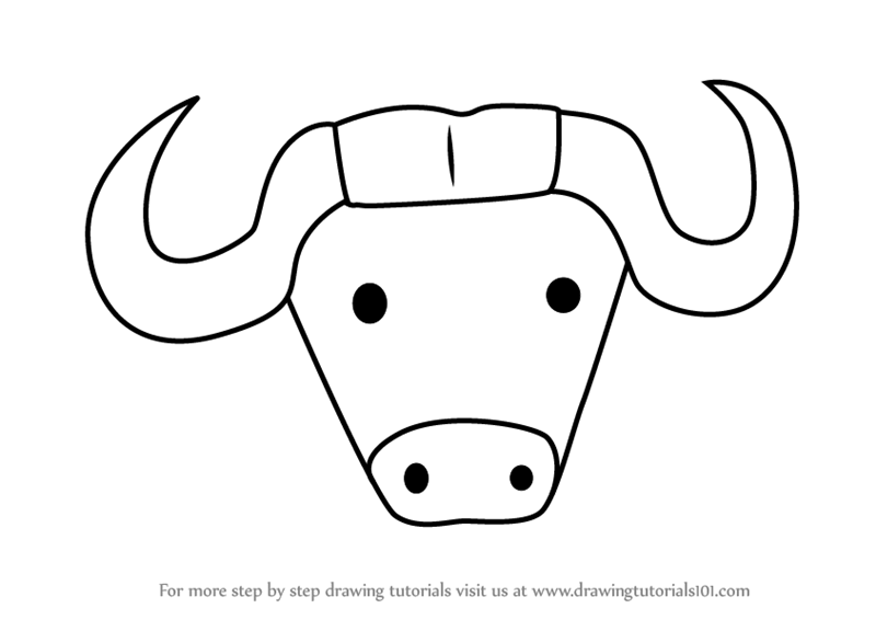 Buffalo clipart easy. Simple drawing free download
