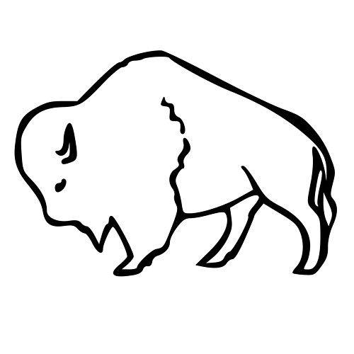 Buffalo clipart easy. Cartoon drawing at getdrawings