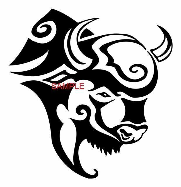 Buffalo clipart head. Tribal cross stitch chart