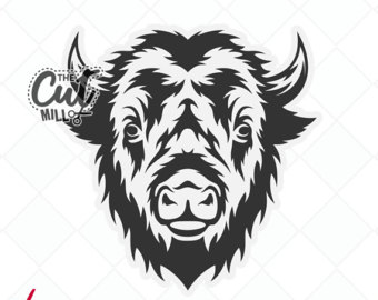 Svg bison graphic png. Buffalo clipart head