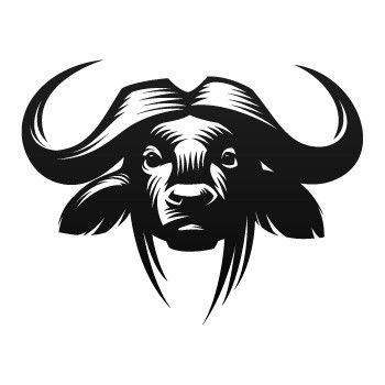 Buffalo clipart illustration. African drawn pencil and