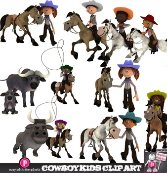 Buffalo clipart kid. Cowboy kids clip art