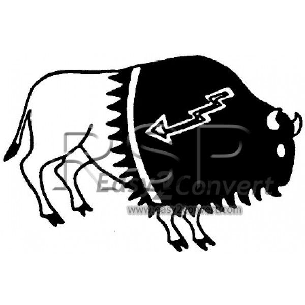 Bison Clipart Native American Buffalo Bison Native