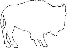 Of a google search. Buffalo clipart outline