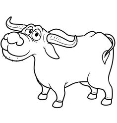 Buffalo clipart outline. Drawing images at getdrawings