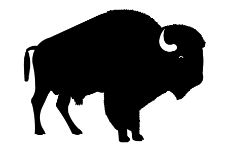 Bison clipart black and white. Silhouette heads at getdrawings