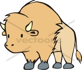 collection of cute. Buffalo clipart simple