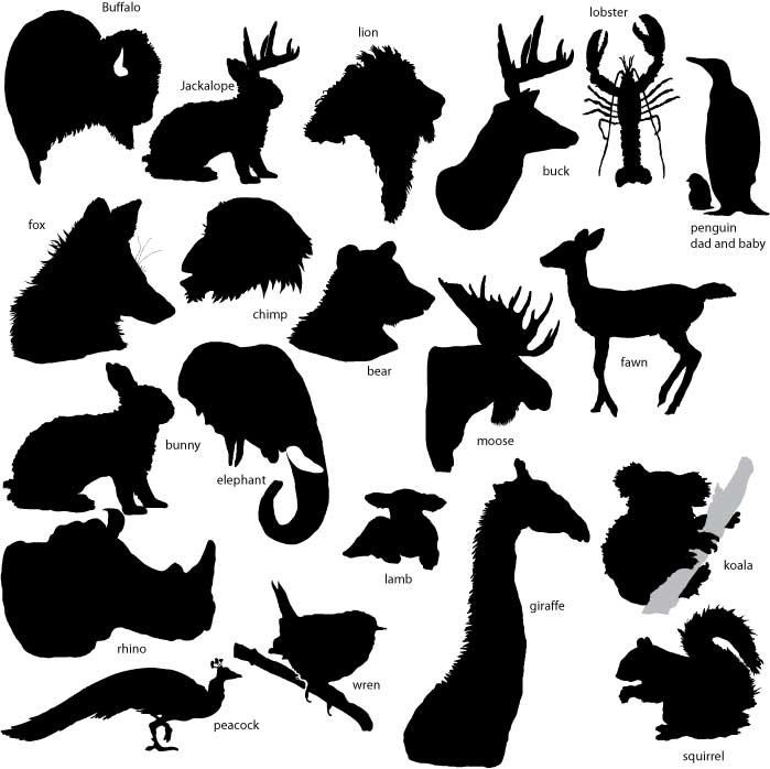 Silhouette font and how. Buffalo clipart stencil