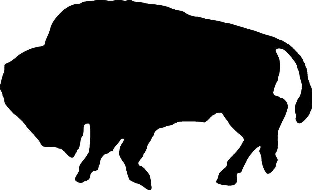 buffalo clipart stencil