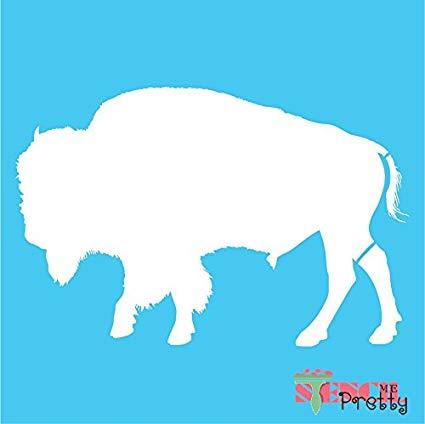 American bison diy template. Buffalo clipart stencil