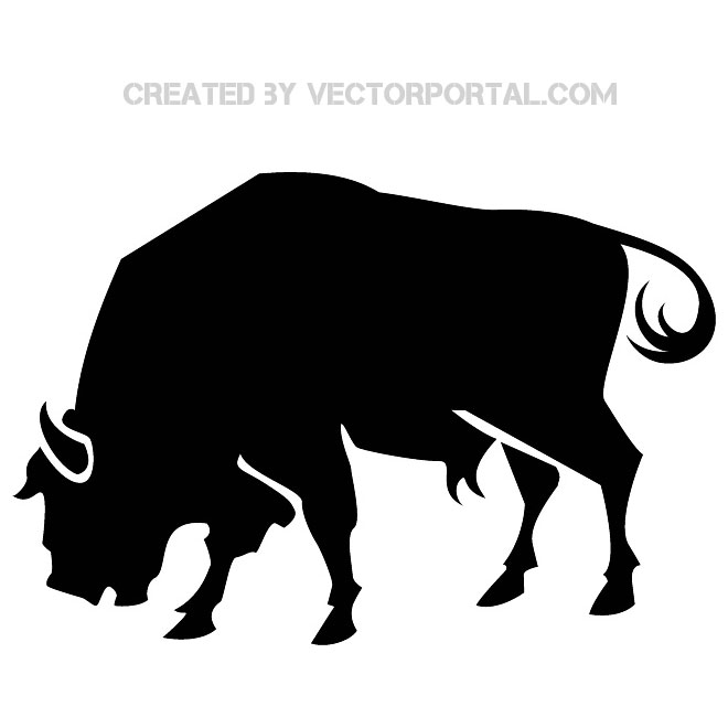 Buffalo clipart vector. Silhouette free download best