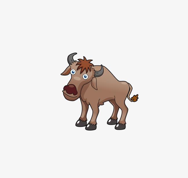 Cartoon cattle png image. Buffalo clipart vector