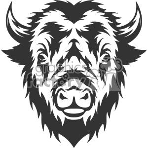 Buffalo clipart vector. Head pencil and in