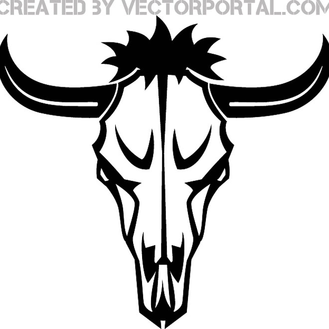 Buffalo clipart vector. Head drawing at getdrawings