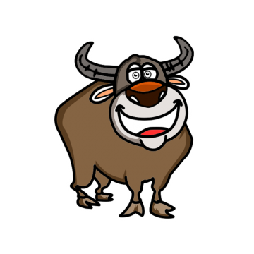 Png psd and with. Buffalo clipart vector