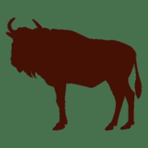 Buffalo clipart wildebeest. Silhouette clip art at