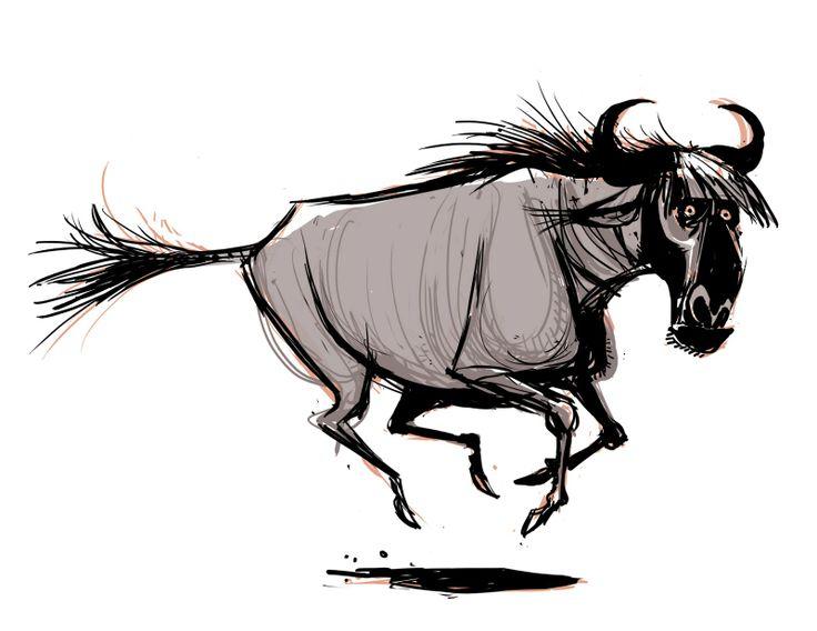 best gnu wilderbeast. Buffalo clipart wildebeest
