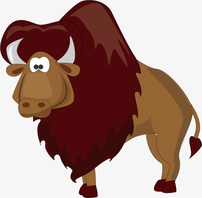 Buffalo clipart yak. African cartoon animal png