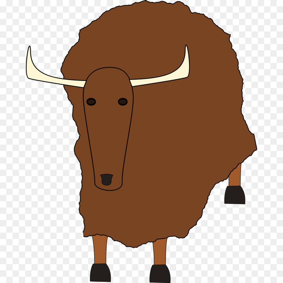 Buffalo clipart yak. Domestic clip art png