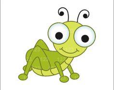Cartoon bugs icon set. Bug clipart animated
