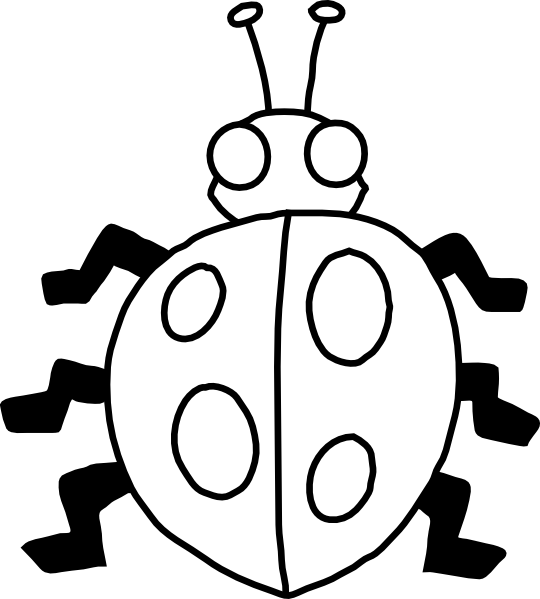 Ladybug clipart sketch. Clip art at clker