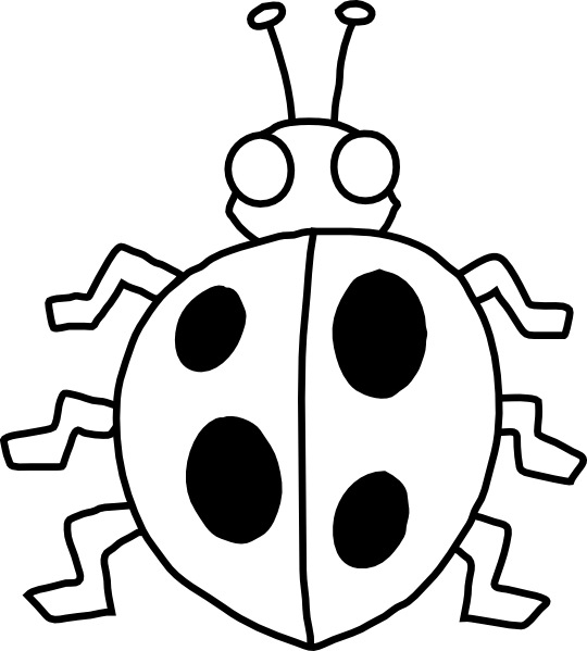 Bugs clipart outline. Bug black and white
