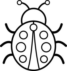Clip art bug . Bugs clipart black and white
