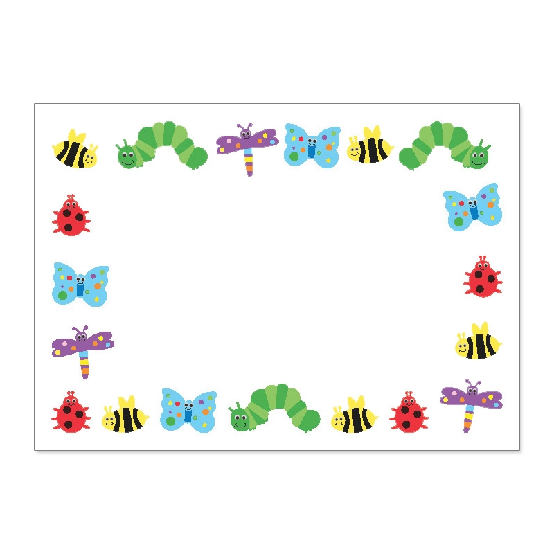 Bug border cliparts zone. Insect clipart borders