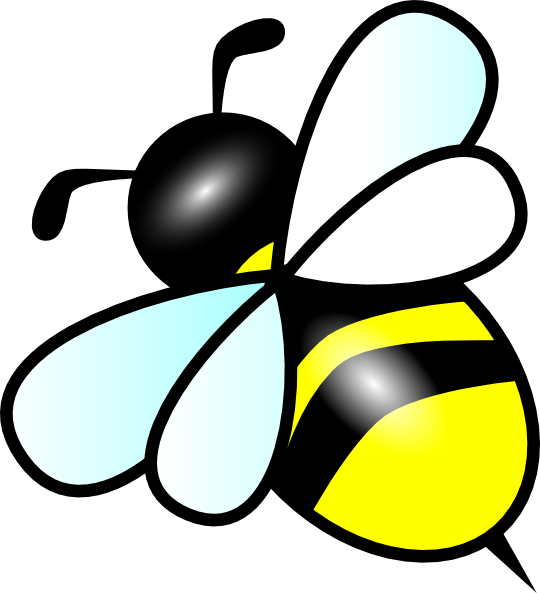 Small clip art at. Heart clipart bee