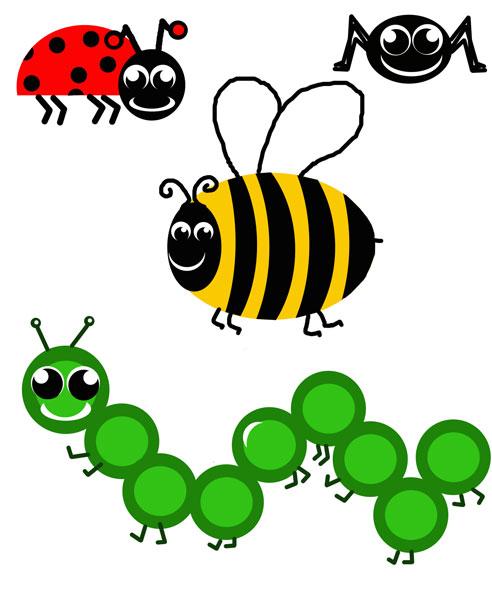 Bug clipart clip art. Cartoon bugs