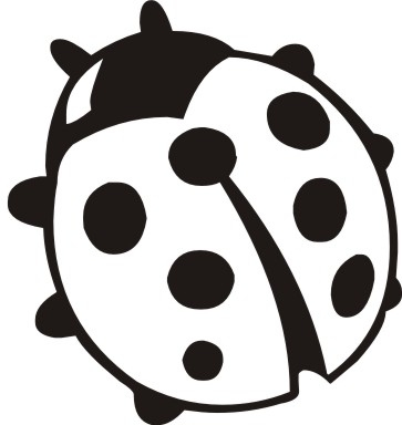 Bug clipart clip art. Black and white lady