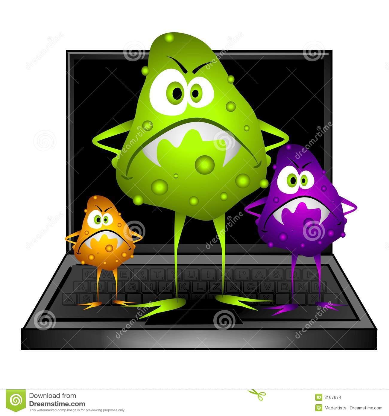 . Bug clipart computer
