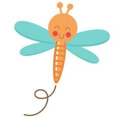 This cute bugs set. Bug clipart dragonfly