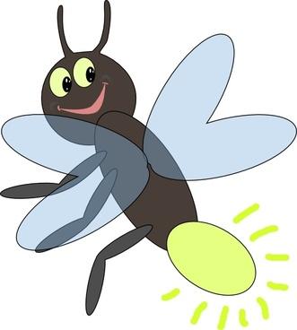bug clipart firefly