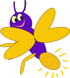 Purple clip art at. Firefly clipart fire fly