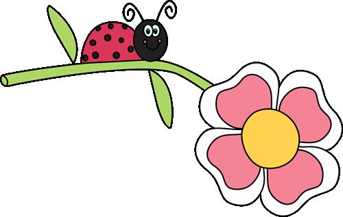 Ladybugs clipart flower. Ladybug on a clip