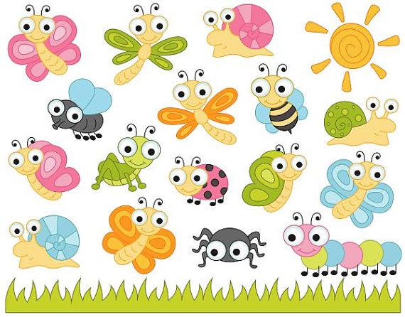 Cute bugs clip art. Bug clipart fly