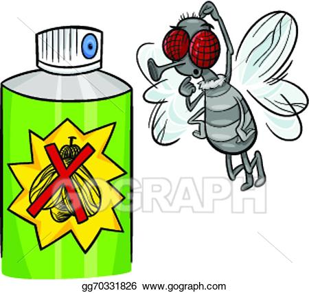 Bug clipart fly. Vector art and spray