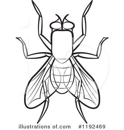 House illustration by lal. Bug clipart fly
