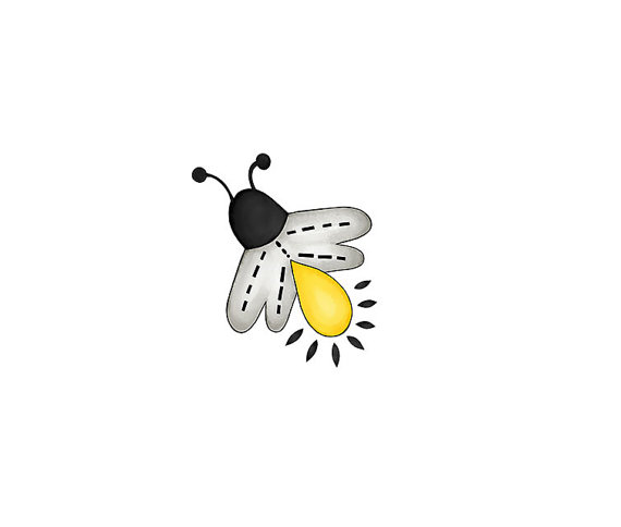 Bug clipart lightning bug. Fireflies bugs digital png