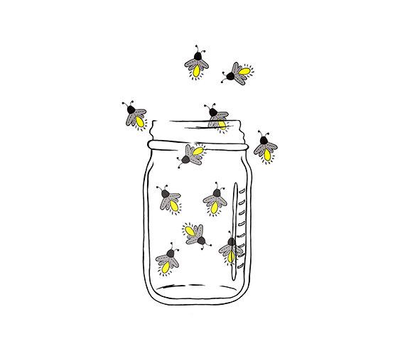 Bug clipart lightning bug. Mason jar image fireflies