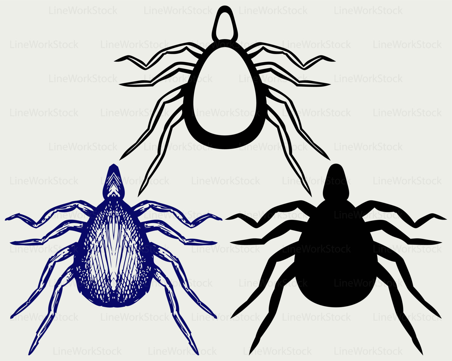 Bug clipart mite. Svg insects silhouette cricut