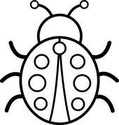 Ladybug clipart black and white. Pictures cute colorable free