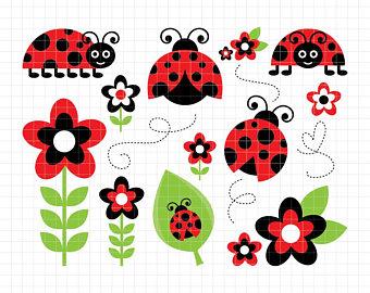 Bug clipart popular. Lady etsy