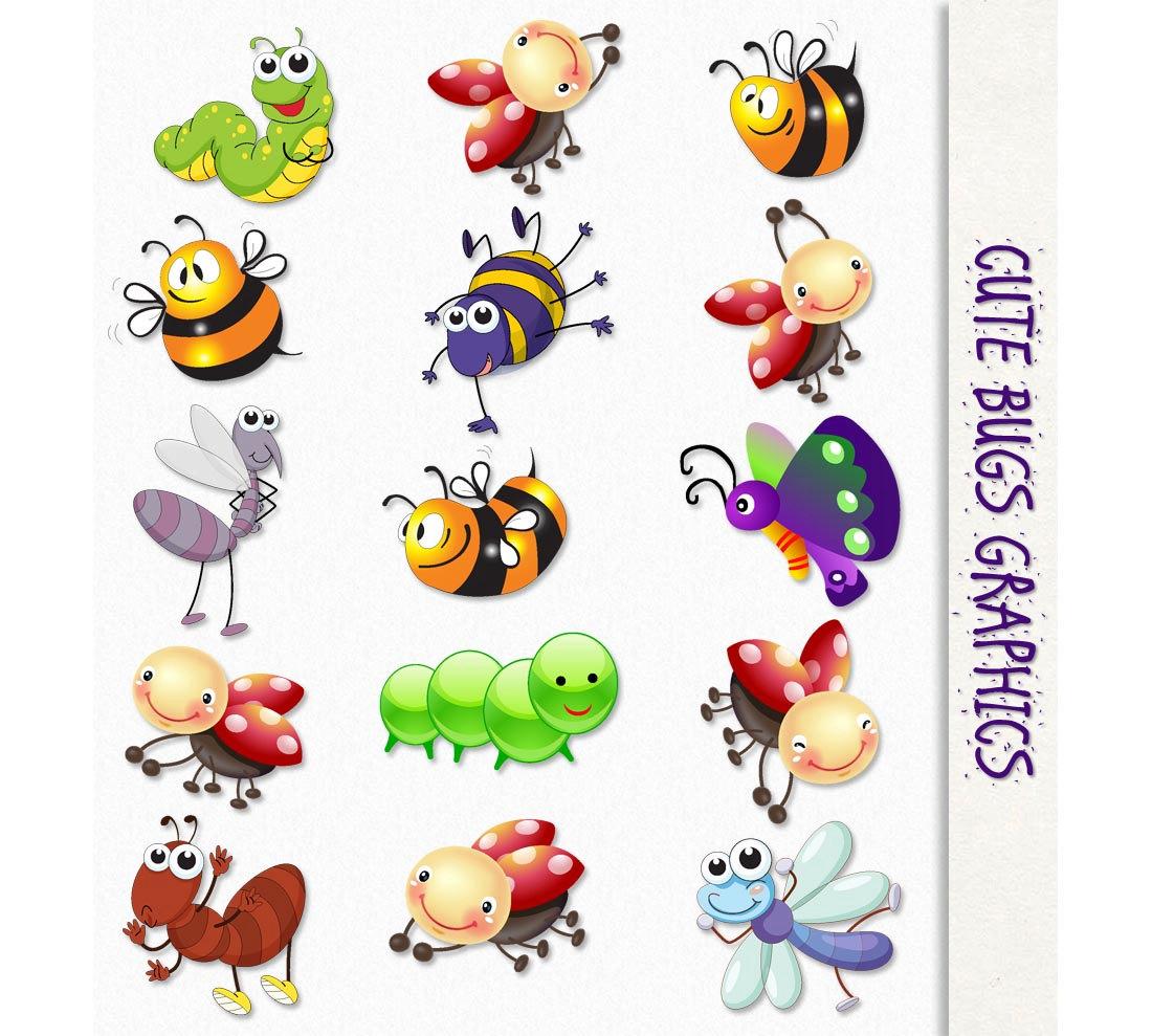 Bug clipart popular. Cute bugs clip art