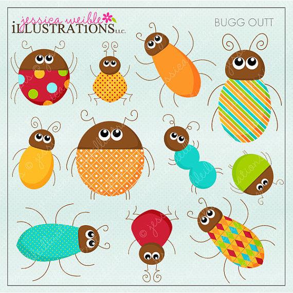 Bug clipart printable. Bugg outt cute digital